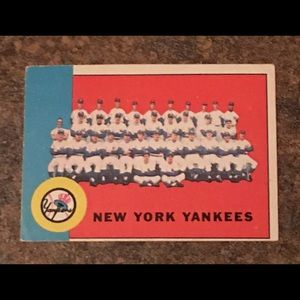 Vintage 1963 New York Yankees Collectible Card
